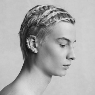 Adrien male braids Los Bellos Perdedores collection by Paul Gehring